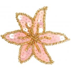 Flower-shaped hair clip
