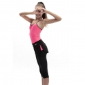 BLACK SHORT WITH FLUO PINK INSERTS